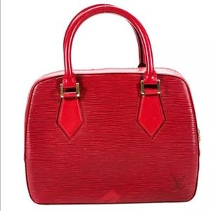Louis Vuitton Red Epi Leather Sablons Handbag